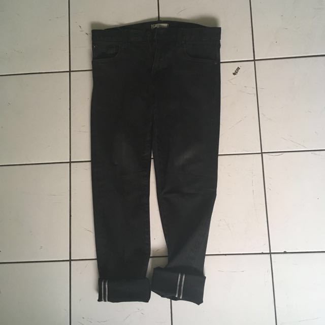 Uniqlo selvedge skinny jeans Black