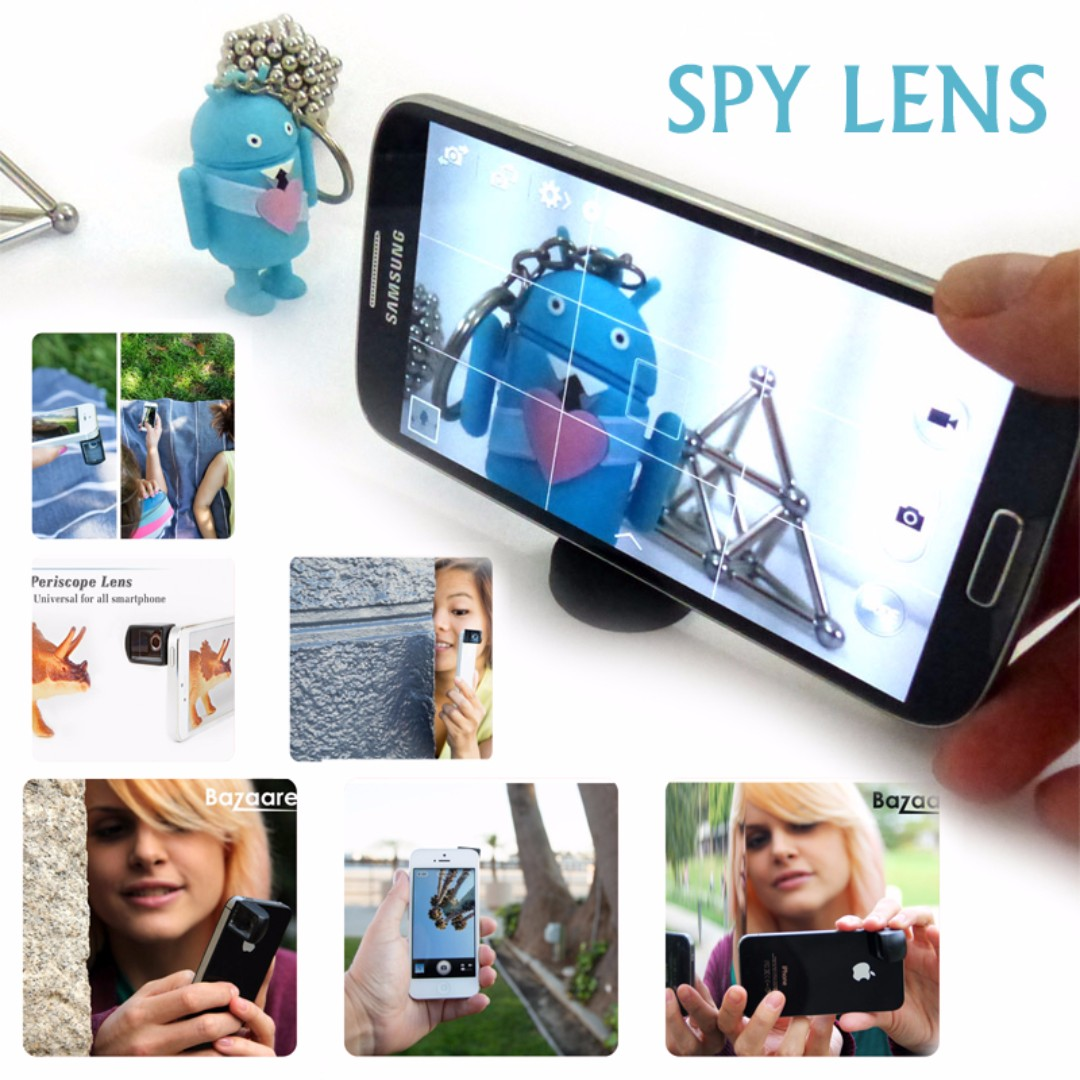 Universal Multi angle shooting Photography Periscope Lens Viewing Smartphone Spy Lens turns your phone into a periscope