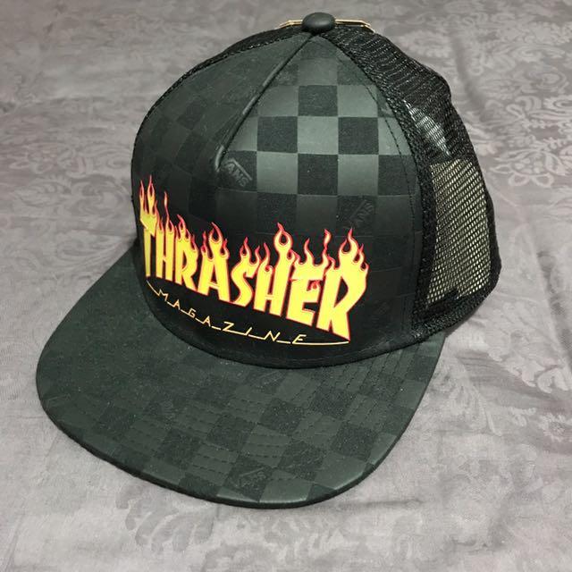 Vans x Thrasher Trucker Cap 9ccf04f6b9aa