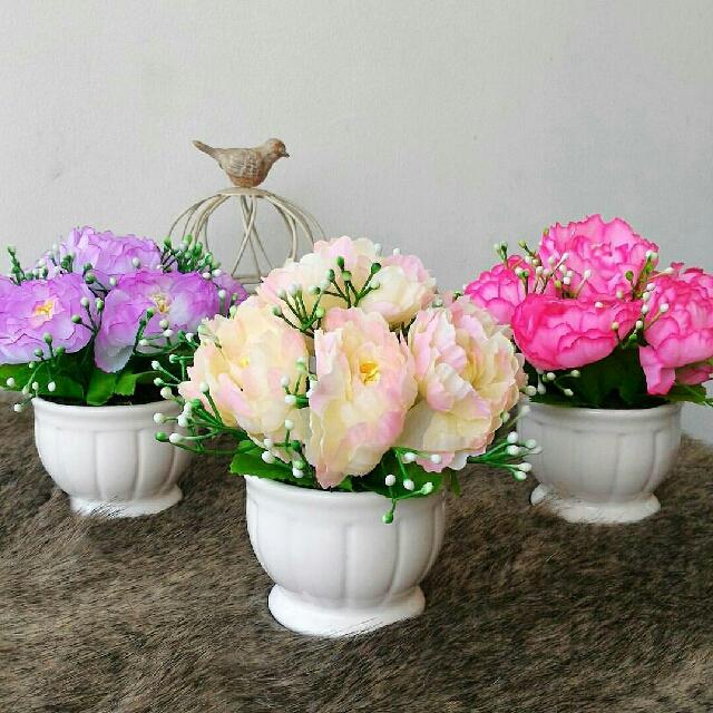 e1c0052695d Vas Bunga Vase Flower Pot Unik Murah Cantik Perlengkapan Rumah Taman Garden Keramik  Ceramic Shabby Shabbychic