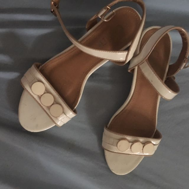white comfit sandals
