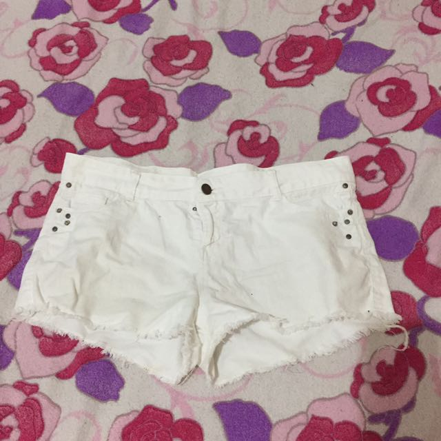 White crop Shorts