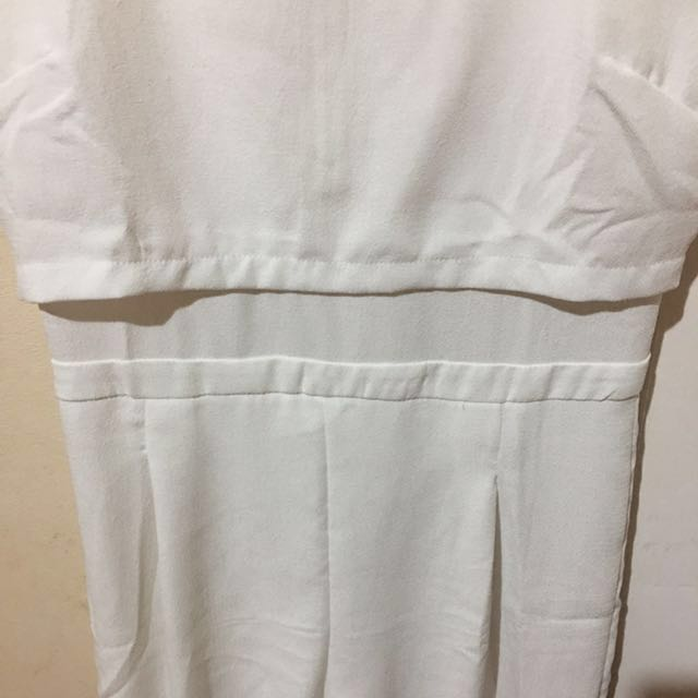 White Mirrou jumpsuit