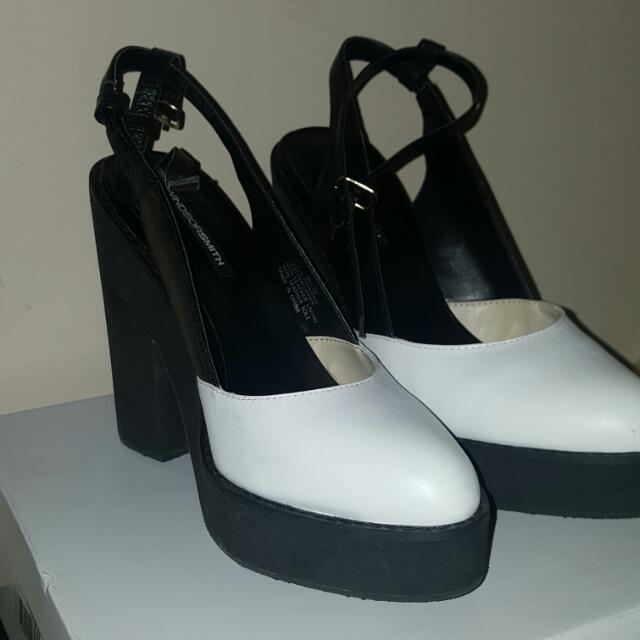 Windsor Monochrome (Black And White) Block Heels 8.5