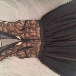 Bebe lace ballerina dress
