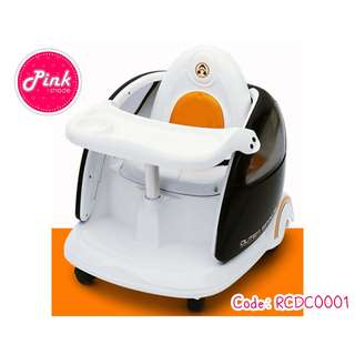 3 in 1 Remote Controlled Indoor Baby Car / Baby Dining Chair / Stroller / Walking Chair / Electric Car