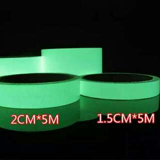 Glow in the Dark 1.5cm x 5M | Luminous Tape | Night Glow Tape | Fluorescent Sticker