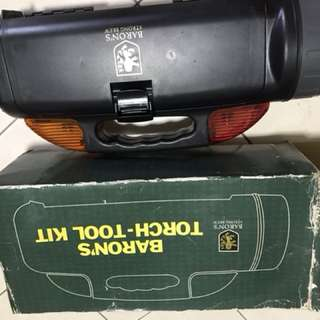 Toolbox with lamp and hazard light