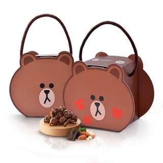 CANDY POPPY x LINE FRIENDS 熊大造型爆米花盒 - 巧克力堅果