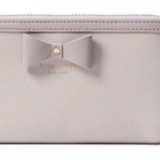 Brand New Kate Spade Bow Hazel Court Zippy Wallet