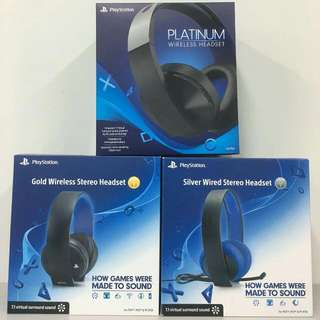 [New] PS4 Headset Platinum Gold Silver Wireless