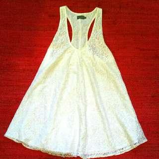 Indikah white lace dress