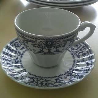 J&G Meakin Royal Staffordshire Sampler design Tea cup & Saucer