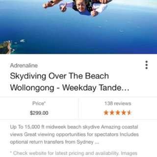 Skydiving woolongong