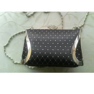 Black And Silver Clutch Bag