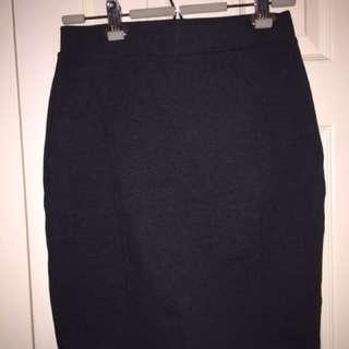 Mario Serrani dark grey sz S stretch skirt