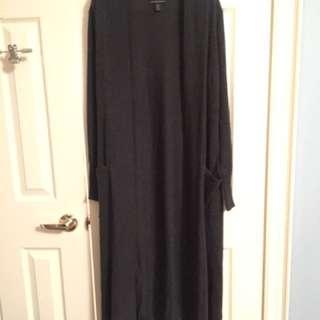 Tahari wool long sweater jacket sz S
