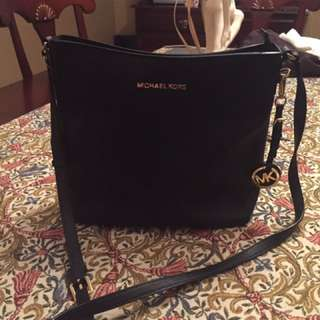 Michael Kors leather cross over purse