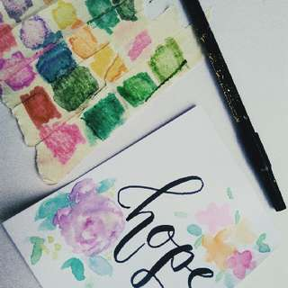Simple and Personalized Calligraphy w/ Designs on Vellum Board