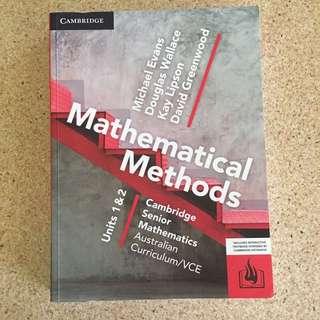 Cambridge Maths Methods Units 1&2 Year 11