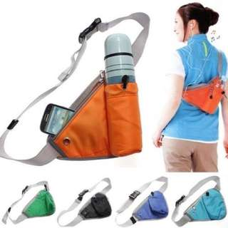 Water Holder Sports Bag With Zipped Compartments