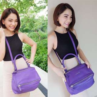 Authentic Givenchy Pandora Small Violet. Goatskin