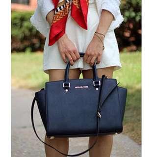 Authentic Michael Kors Selma Large Black Tote Handbag RRP$579