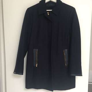 Zara navy coat size M