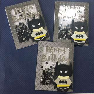 Batman birthday Shaker Card