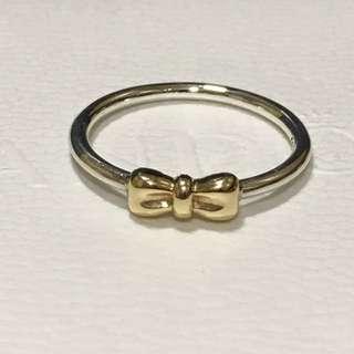 Pandora 14k gold retired bow ring