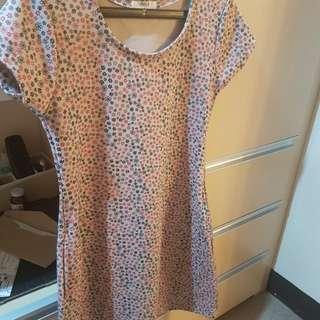 Unica Hija Vintage Brown Floral Dress
