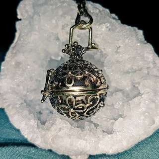 Bronze harmony ball necklace