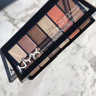 Nyx the go-to palette with eyeshadow, highlight, blush& contour