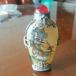 老藏銀鼻煙壺