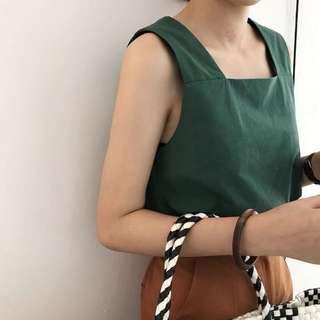 粗肩帶背心(綠)