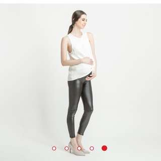 Hellolilo maternity leather leggings