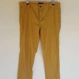 RVCA Yellow Slim Chinos 34 General Pants ASOS Spring