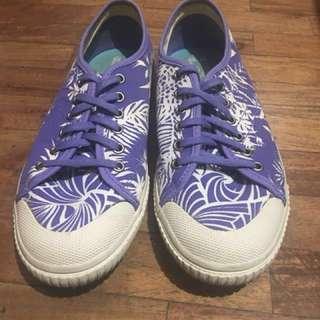 Tretorn Seksti Spring Floral Blue Iris Classic Sneakers