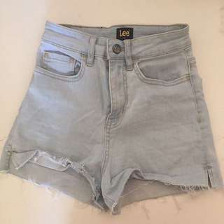 Lee High Waist Denim Shorts