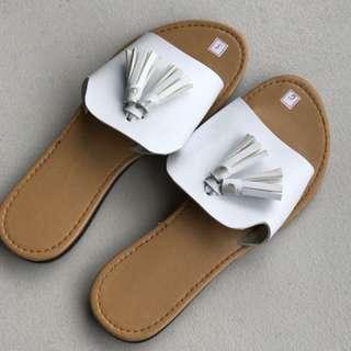 Tassel Flats Sandals