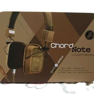 Gavio Chord Note Country Brown Headphone