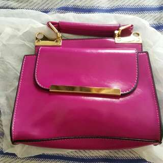 Women's purple small fashion handbag with sling