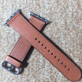 Apple watch42mm 經典扣鞍褐色真皮表带(正品)