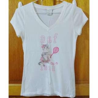 🚚 Abercrombie&fitch Kids A&f Af 小童 貓咪 T-shirt