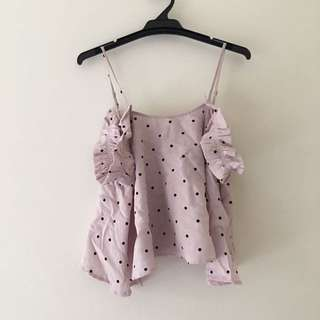 Cute pink singlet size s