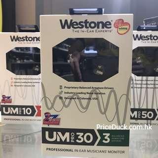 Westone UM Pro 30 入耳式耳機 2017 ver. - 【香港行貨】