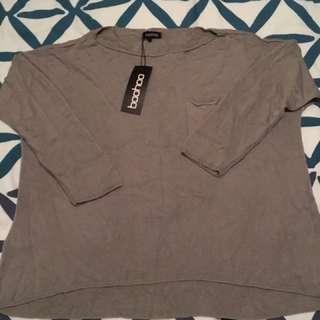 Grey oversized slouchy jumper