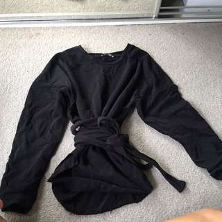 Zara wrap tie jumper size s