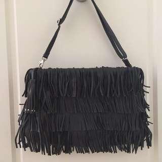 ZARA Fringe Leather Handbag