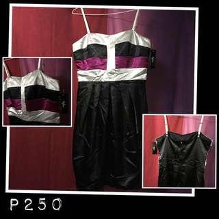 BYLINE tri-color silk short dress